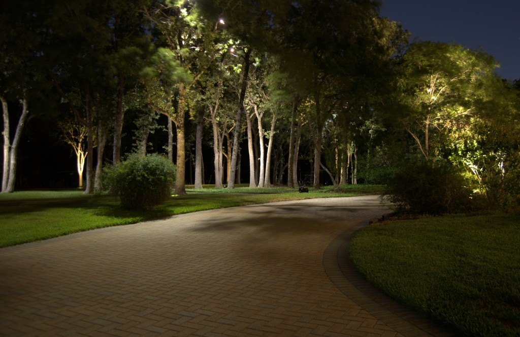 moonlight outdoor lighting. Moonlight Behind Pool Outdoor Lighting