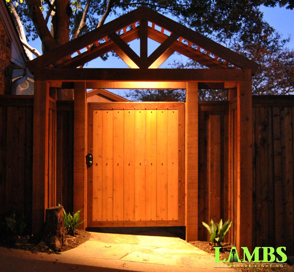 Gate Illuminated