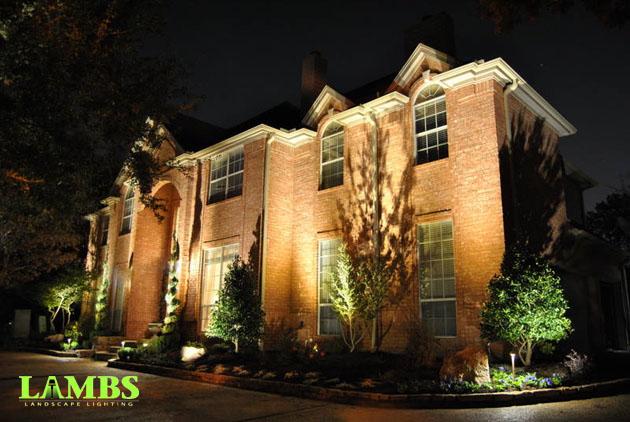 Up Lighting on House Kichler