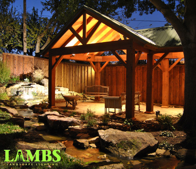 Creek and Pergola Lighting