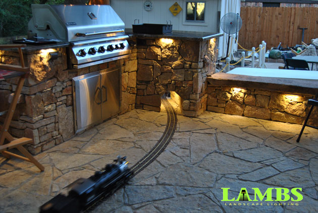 Outdoor Kitchen and Train 630x