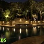 Wall Lights and Pool Nightime